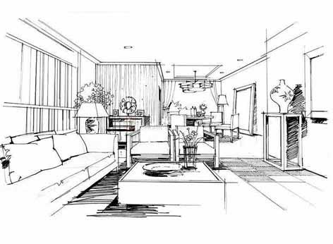 快速一点透视手绘室内效果图步骤|五邑地区设计研修